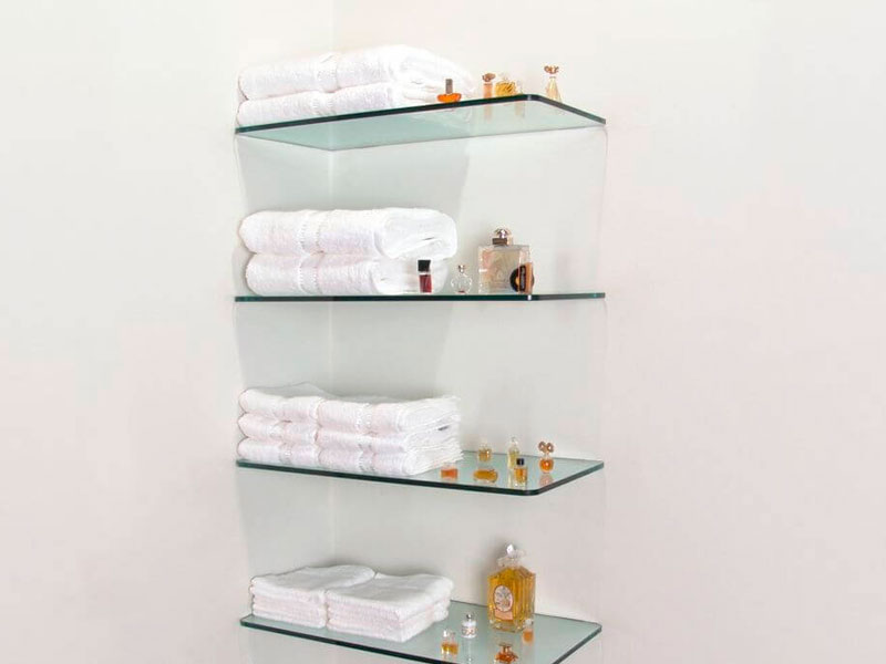 Estante De Vidro Temperado : Prateleira de vidro cia do vidro
